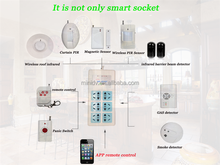 APP Remote Control 3 Outlets 6 Plugs Extension Home Alarm Smart WiFi Power Socket Compatible with 16pcs 315Mhz OR 433Mhz Sensors