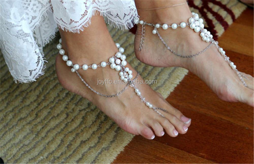 Beach Foot Leather Chain 2017 New Summer Anklets Foot Jewelry Gift Fashion Ankle Vintage Imitation Pearls Pendant Anklet