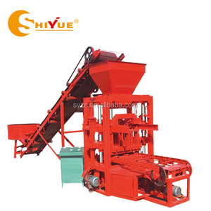 QT4-26C Mold vibration Brick Production Line hollow block machine small machines to make money