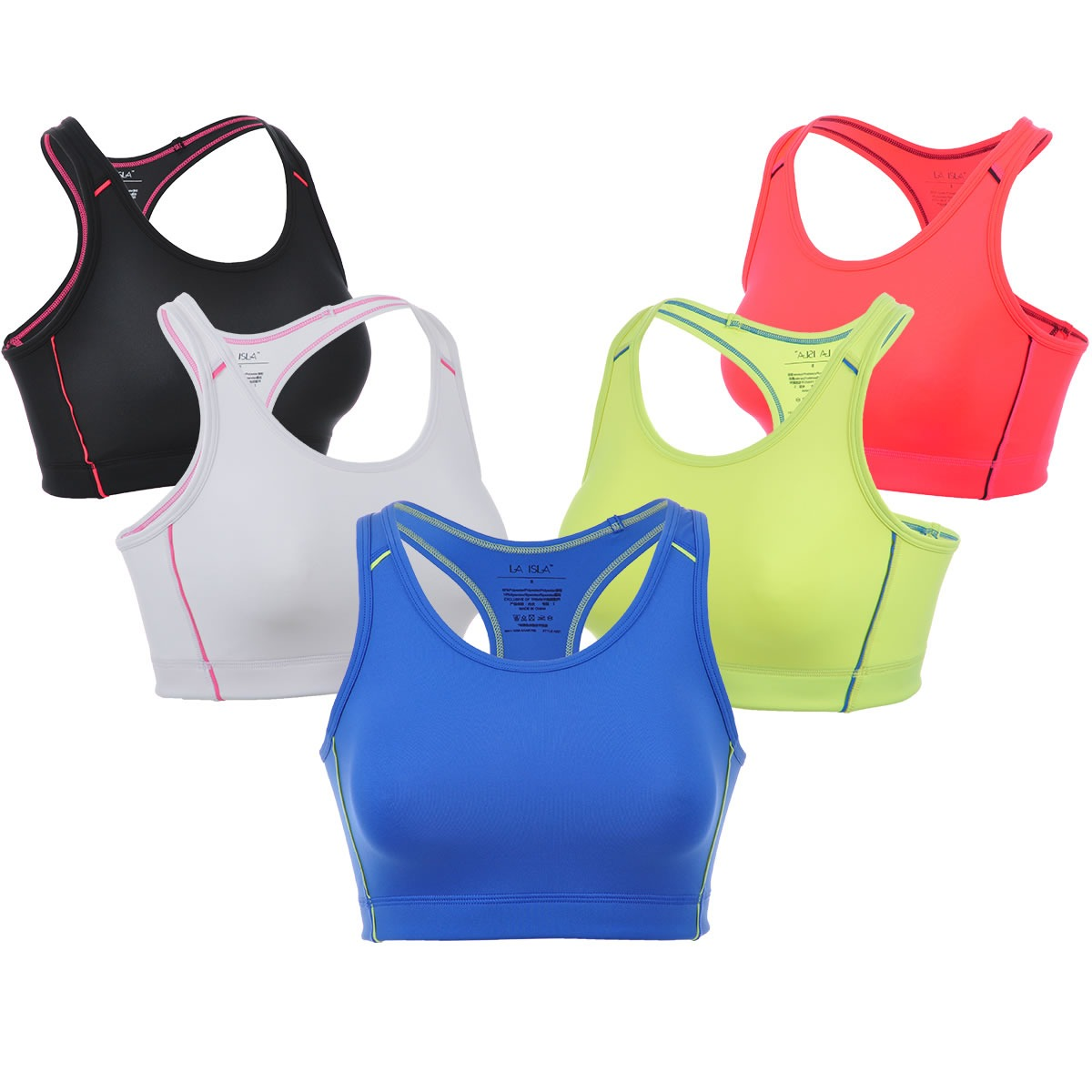 8f102ca8551cd Get Quotations · New Smooth Full Cup No Wire Basic Shiny Color Workout Sports  Bra XS S M L XL