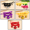 colorful braid weave handmade cat collar dog collar with bells