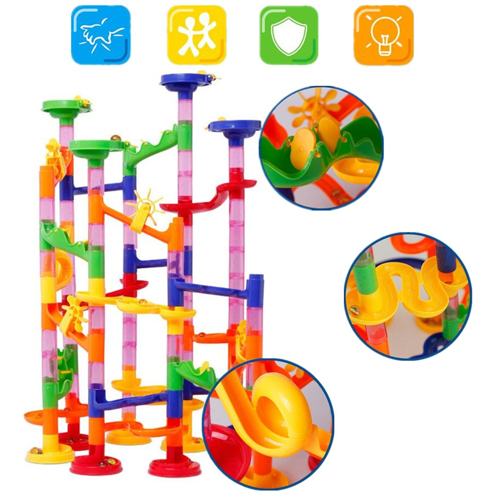 U.WILL Marble Run Toy - 105 Pcs Marble Game STEM Learning Toy, Educational Construction Building Blocks Toy, Marble Set Gift for Kids 4 5 6 + Year Old Boys Girls