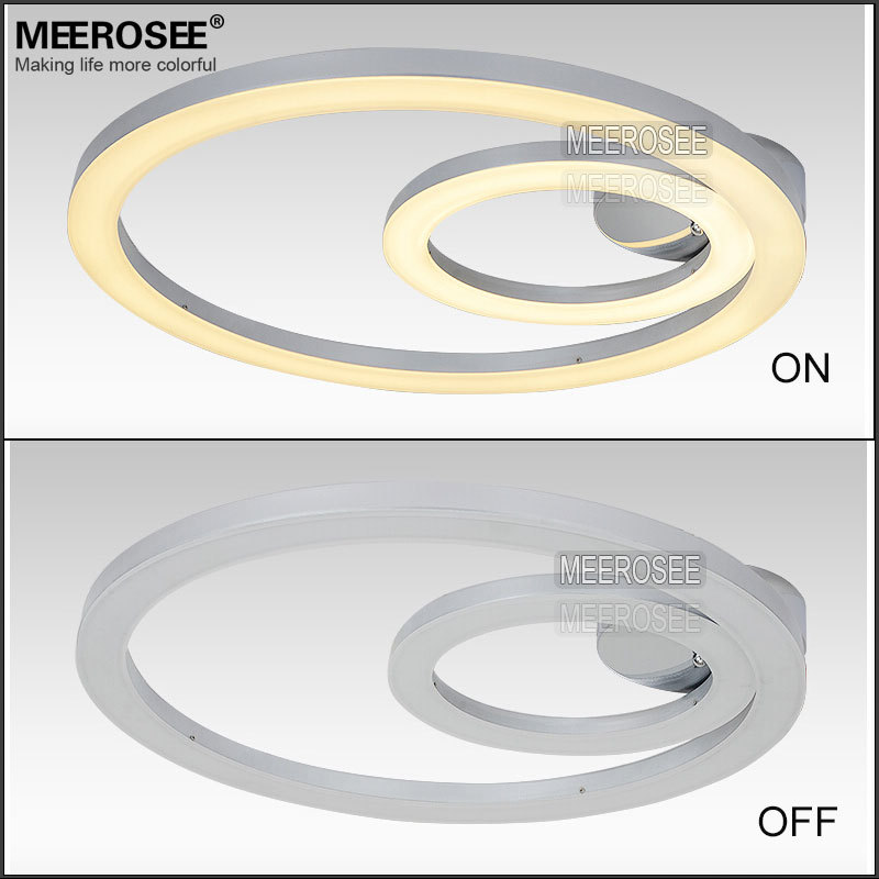 Surface Mounted Led Circle Ring Light Modern Ceiling Lamp Meerosee ...