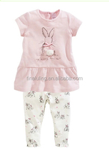 Lovely and Cute fashion baby girls clothing sets kids 2pcs sweet baby outfits