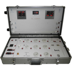 LED and Halogen Lamps show case Trolley led display demo case