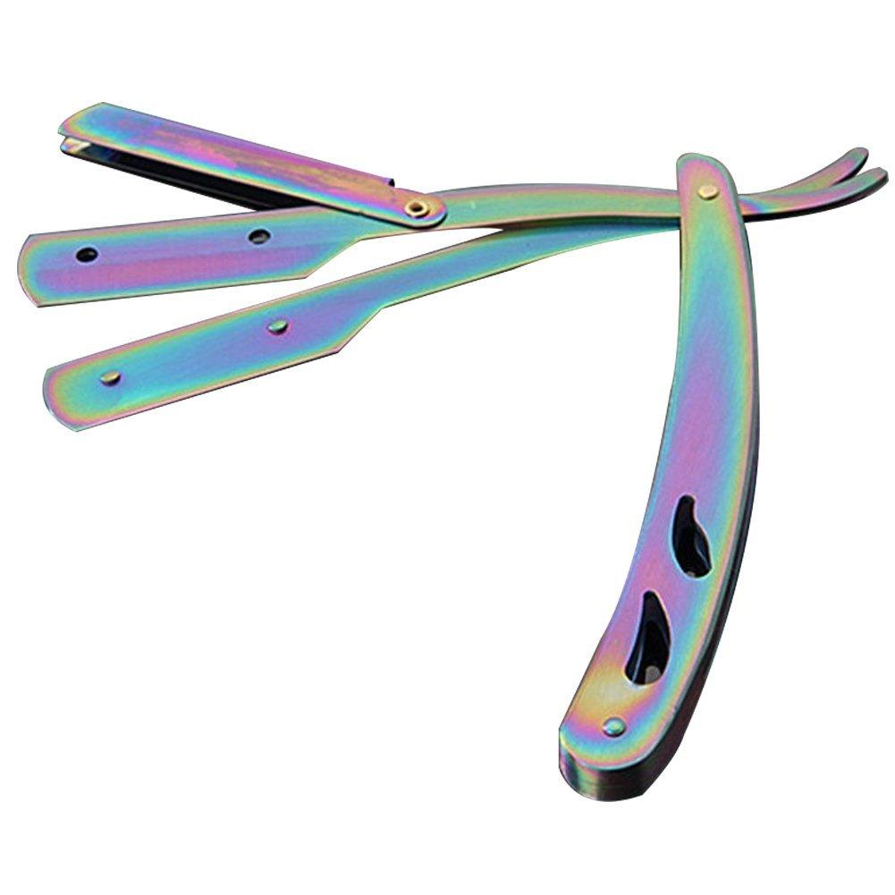 Razorless Barber Straight Edge Razor Stainless steel Straight Edge Barber Razor Folding Shaving Knife Razor - Shaving Men's Manual Shaver