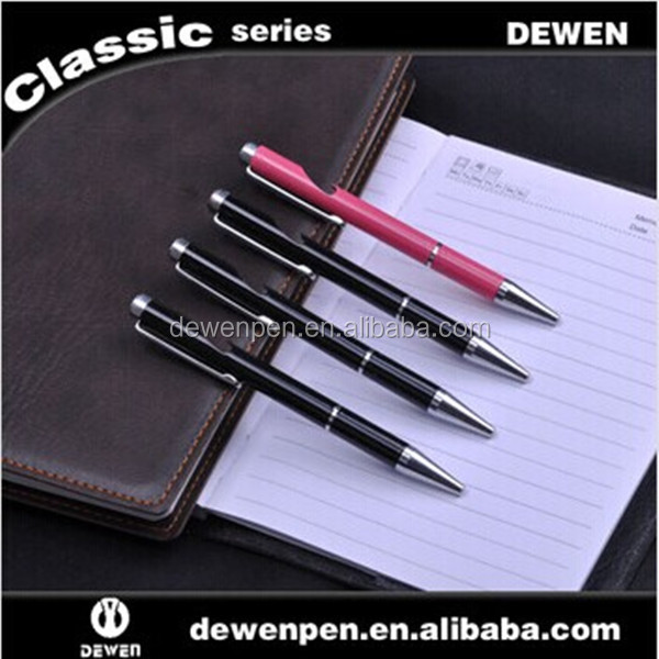 special design new fashion retractable black and pink metal pen novelty pen