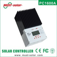 PC1600A series hybrid MPPT solar charge controller air cooling 45A/60A high efficiency 98%