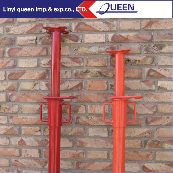 Scaffolding Adjustable Steel Shoring prop/ concrete slab roof formwork scaffolding system