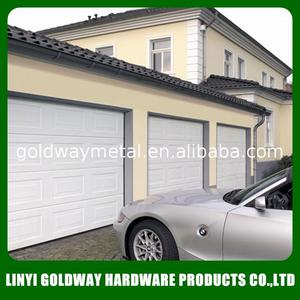electrically operated double track security garage doors