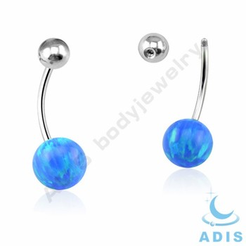 Titanium Opal Belly Button Piercing Navel Ring Buy Titanium Belly Button Ring Titanium Belly Ring Opal Navel Ring Product On Alibaba Com