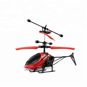 Flying toy induction control airplane mini helicopter