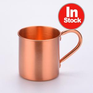 Tito's Reds Copper Travel Coffee Cup Beer Tin Copper Mug Set Wholesale Custom 100% Solid Stoli Vodka Copper Mug with Logo
