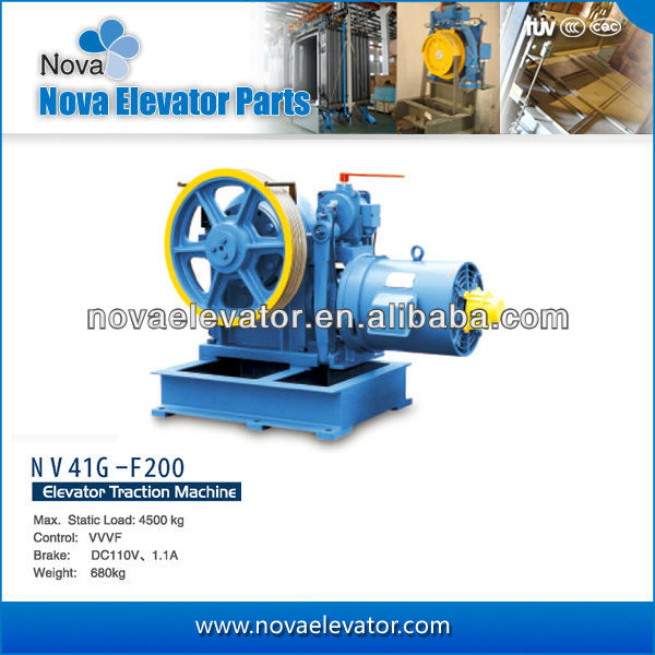 NOVA MAnufacture Fine Quality Lift Traction Machine Electric Elevator Motor