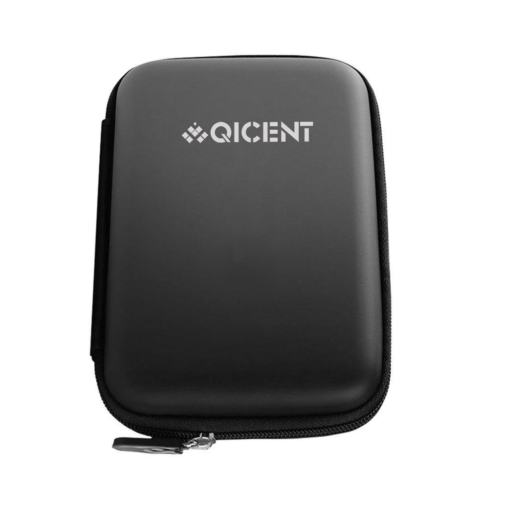 QICENT External Hard Drive Case 2.5 Inch HDD Protective Carrying Bag for SSD External Hard Drive My Passport - Black
