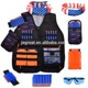 New Adjustable Tactical Vest set with dart pouch for children Adult