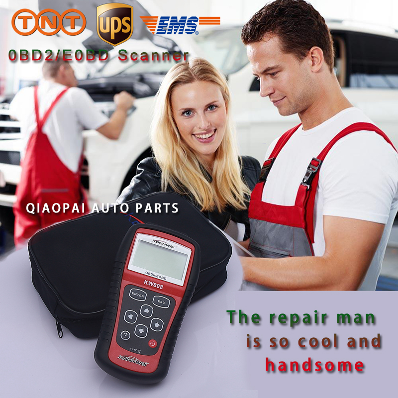 Automobile diagnostic-tool scanner auto maintenance scan diagnostic tool EOBD OBDII KW808