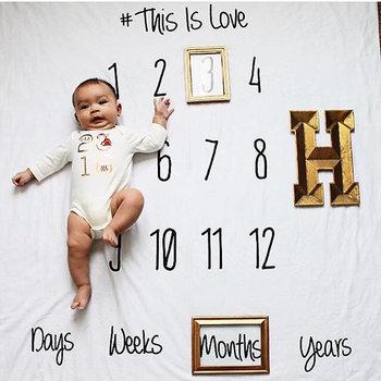 4123975de New Design Monthly Baby Milestone Blanket - Buy Milestone Blanket ...