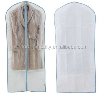 Front Only Clear Transpa Plastic Zipper Garment Bag