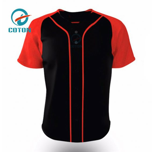 Atacado Sports Clothing Manufacturers Baseball Camisa Branco Preto Mangas Dry Fit