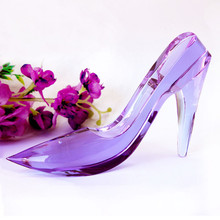 Purple,Clear,Blue,Pink Romantic Crystal Wedding Shoes
