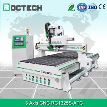 High Accuracy 3 Axis Cnc Router Machine Rc1325s Atc Woodworking Machine For Wood Funiture