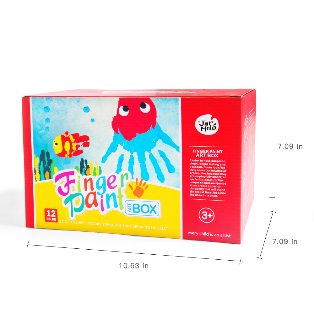 Children's Finger Paint Box Kit Non-Toxic And Washable Finger Paint With Portable Box