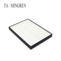 Factory Price Stackable PU Leather Earrings Jewellery Tray For Display