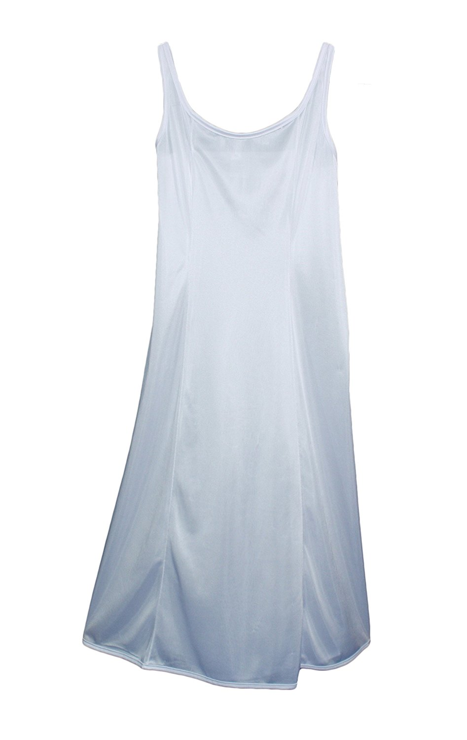 Little Things Mean A Lot Girls White Simple Princess Style Tea Length Nylon Slip with Adjustable Straps (Size 4-16)