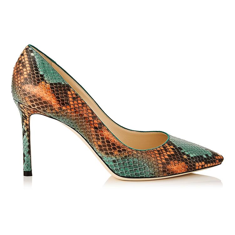 women SS457 print Gracozy high elegant 3D shoes Slim design heel 2018 8dq6zdnH