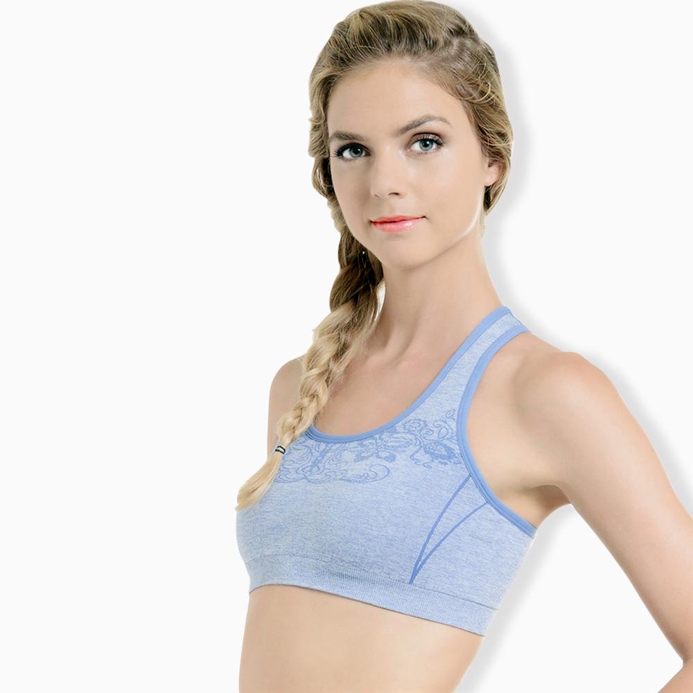 2cd2d3153d Navy soft lightweight cotton compression sport bra