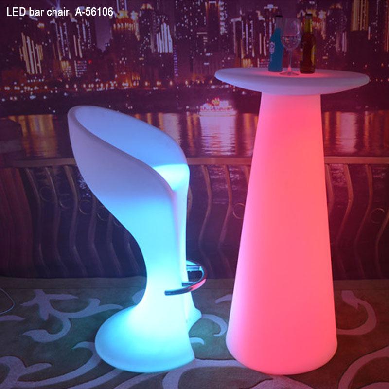 Modische Farbwechselleuchte Möbel Cocktail Bar Stuhl