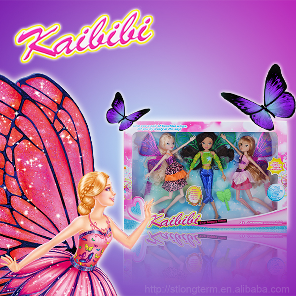 moveable joint beautiful princess doll games fly by fairy flutterbye flying fairy toy