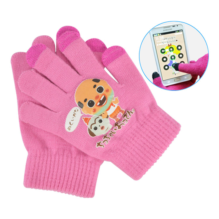 Touch screen microfiber gloves for mobile smartphone