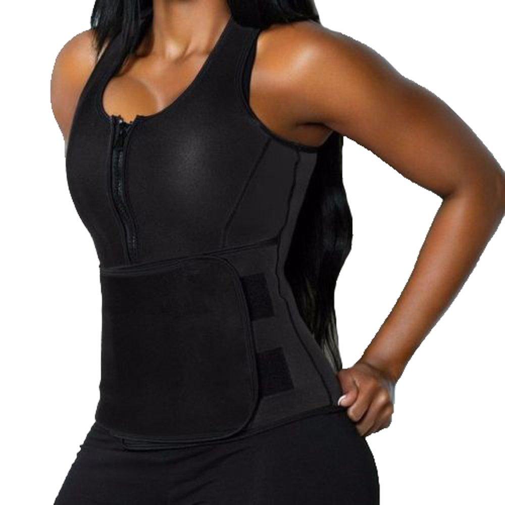 e8c5101aa90b2 Get Quotations · 3-5 Days Delivery Women s Neoprene Sauna Suit Tank Top Vest  with Zipper Slimming Body