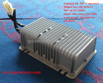 96v to 12v,50A waterproof Isolated dc to dc converter 600W