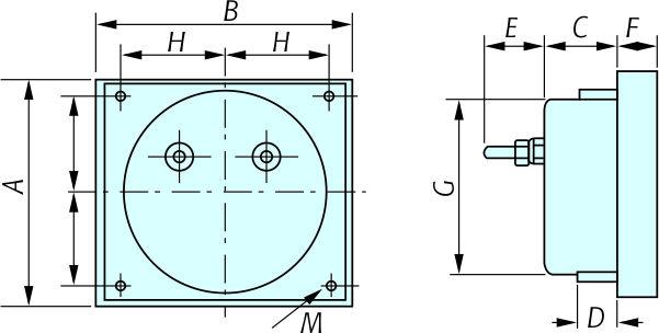 Manufacturer Dc-a50 Direct Input Ac Voltmeter,Analog Panel Meter ...