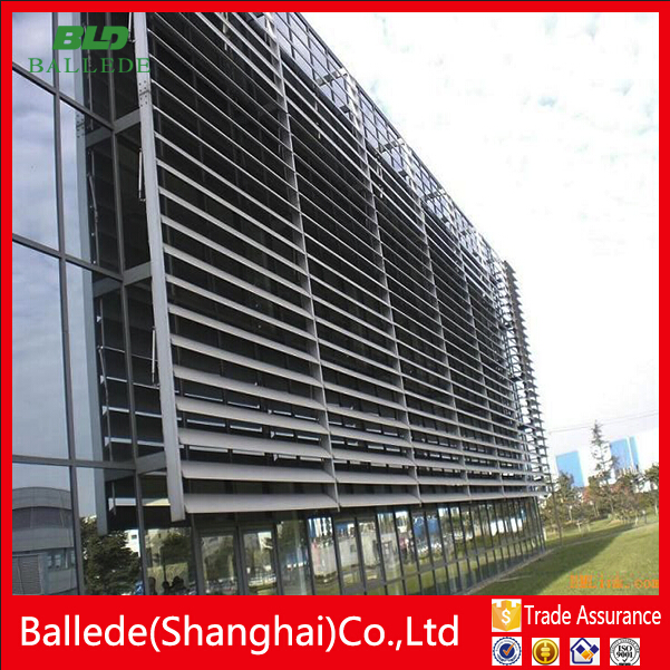 motorized sun shade louvre for glass curtain wall
