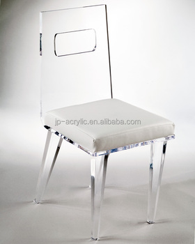 wholesale clear ghost acrylic high back chair plexiglass lounge seat