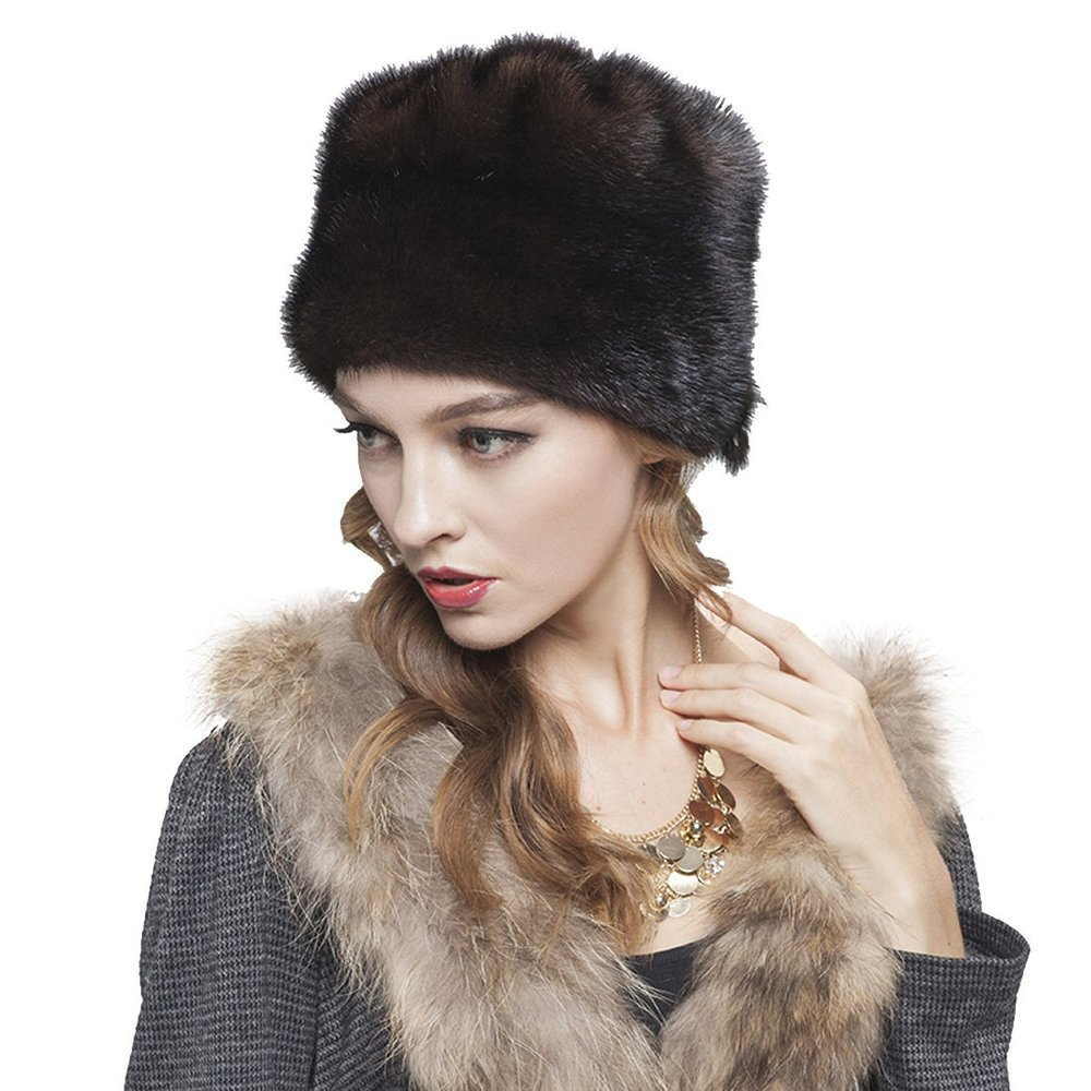 704805f7634f8 Get Quotations · Women s Mink Fur Fedoras Hat with Mink Tails