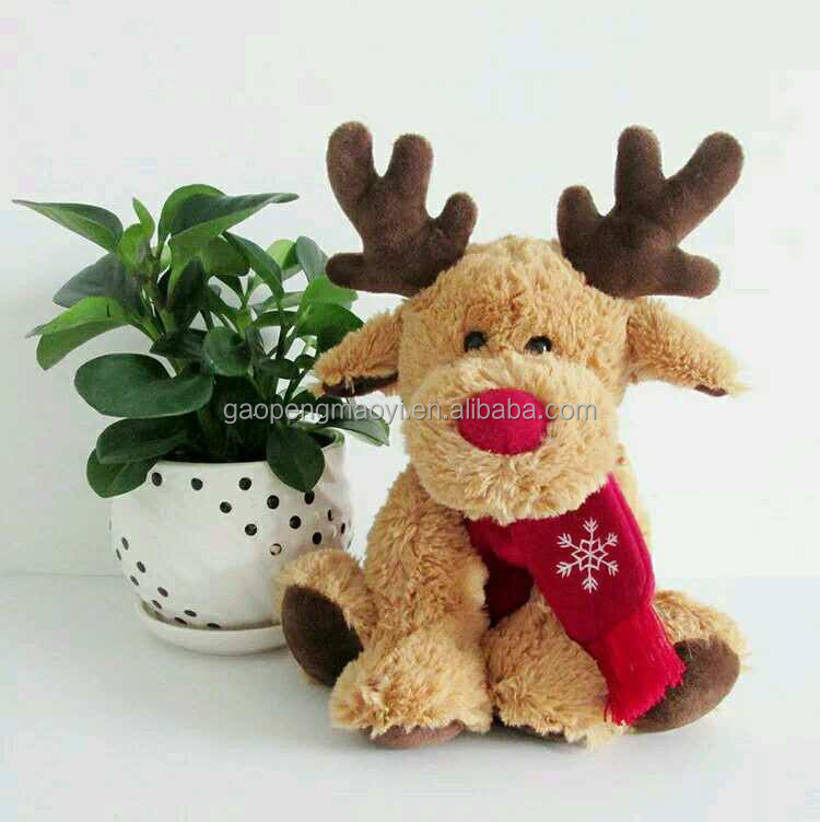 China toy factory plush toys soft christmas deer for kids