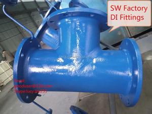 High quality Blue epoxy coating flange pipe fitting for water supply pipeline