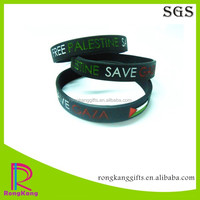 country flag rubber wristband free palestine save gaza color filled silicone bracelet