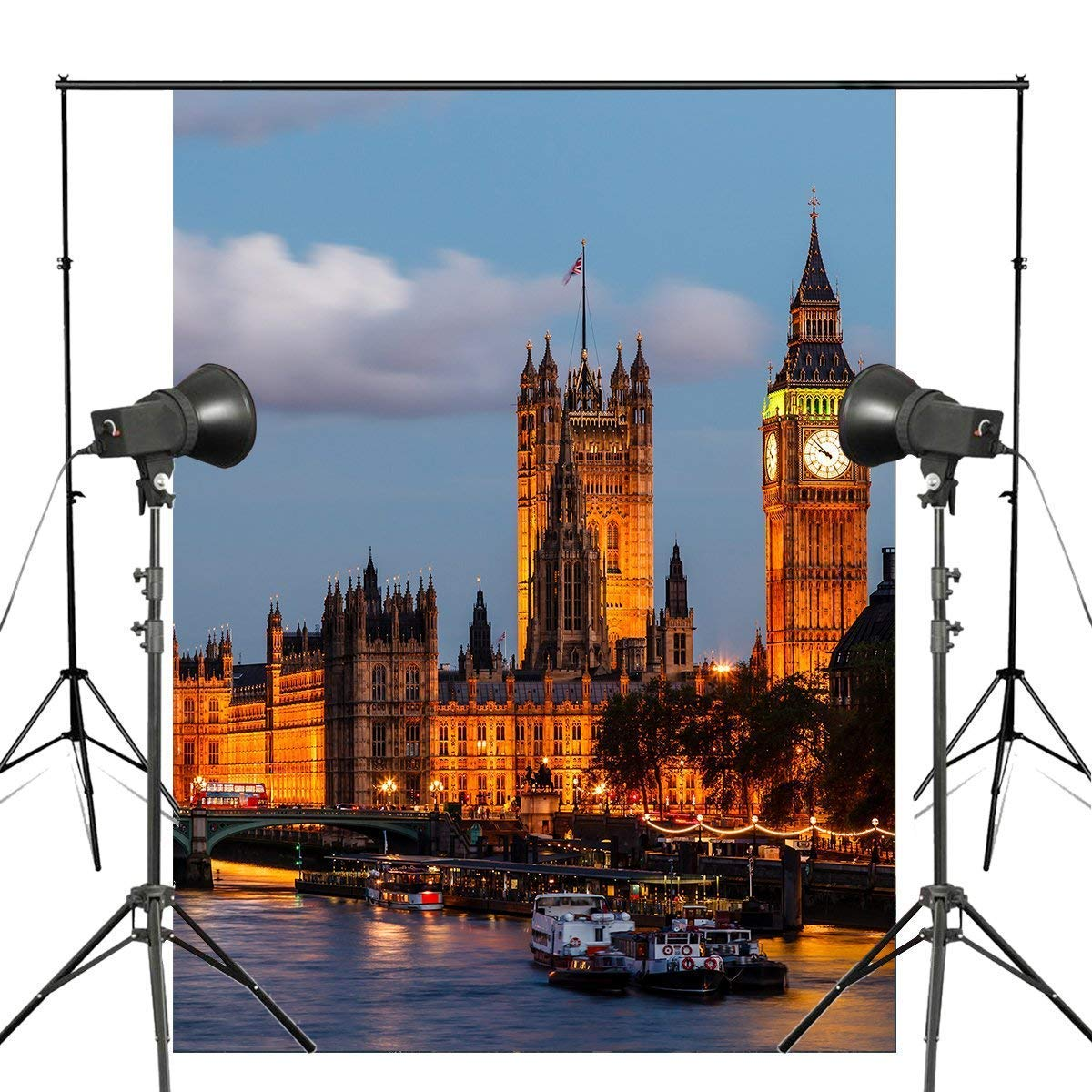 ERTIANANG 150x220cm UK Big Ben Night View Photography Background London Architecture Backdrop Landscape Studio Background Props Wall