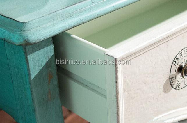 Amerikaanse stijl massief hout provinciale blauw en wit met de hand