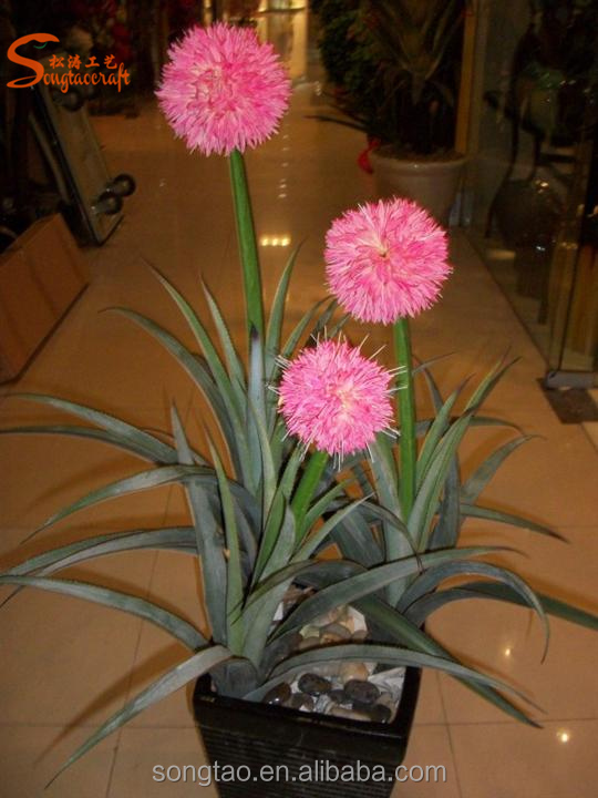 Artificial Flower Allium Silk Plant Ball Garden Decoration