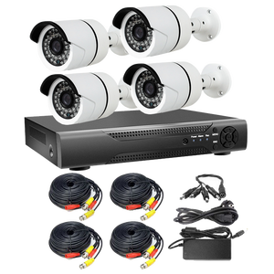 H 265 4MP POE NVR Kits 4CH Home Video Surveillance Cameras System p2p ipc  ip camera with face detection
