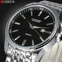 Часы Curren Мужские, повседневные, аналоговые, кварцевые, из нержавеющей стали(Китай)