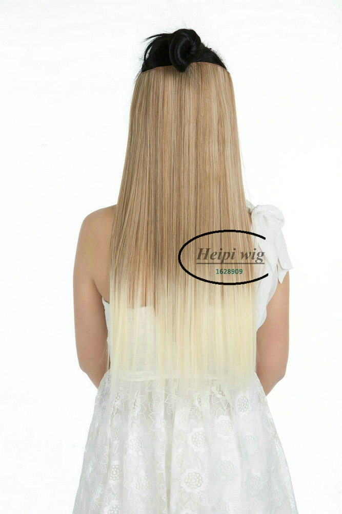 Clip In Hair Extension Hairpieces Slice Synthetic Hair 1pc 5Clips Straight MultiColors Available
