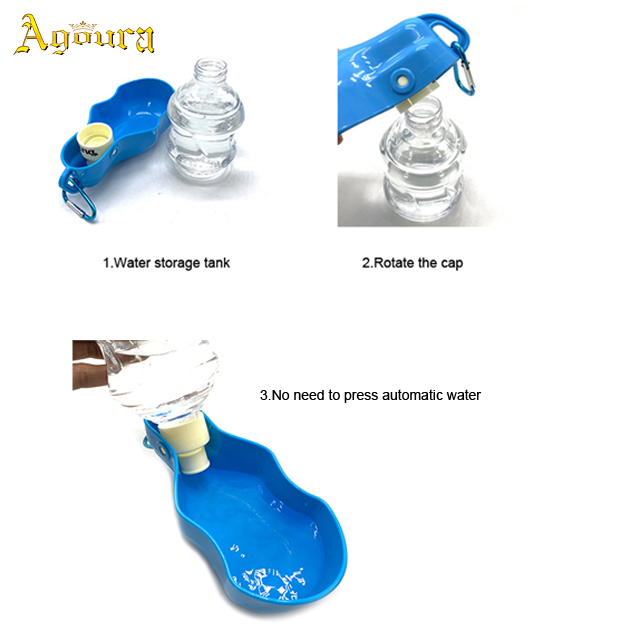 Custom Outdoor portable pet water bottles for cat and dog